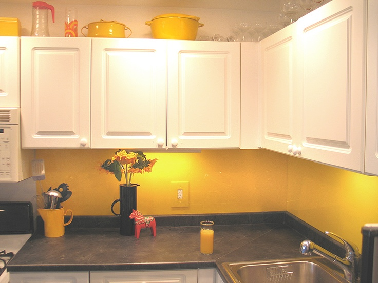 Kitchen Backsplash Yellow 14 best yellow glass splashbacks images on pinterest | glass