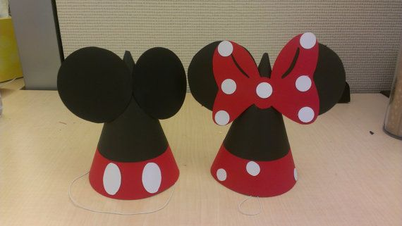 Mickey Mouse Club House Party Hats von MagicalBoutique auf Etsy
