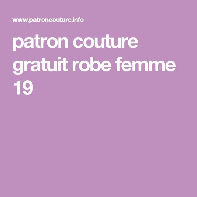 patron couture gratuit robe femme 19