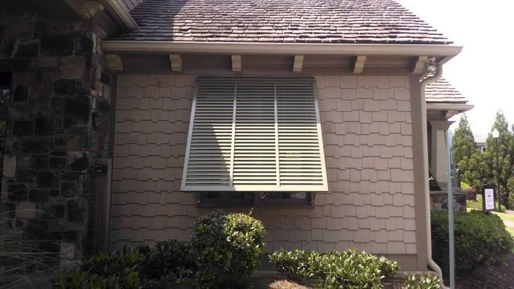 Exterior Bahama Shutters by The Louver Shop