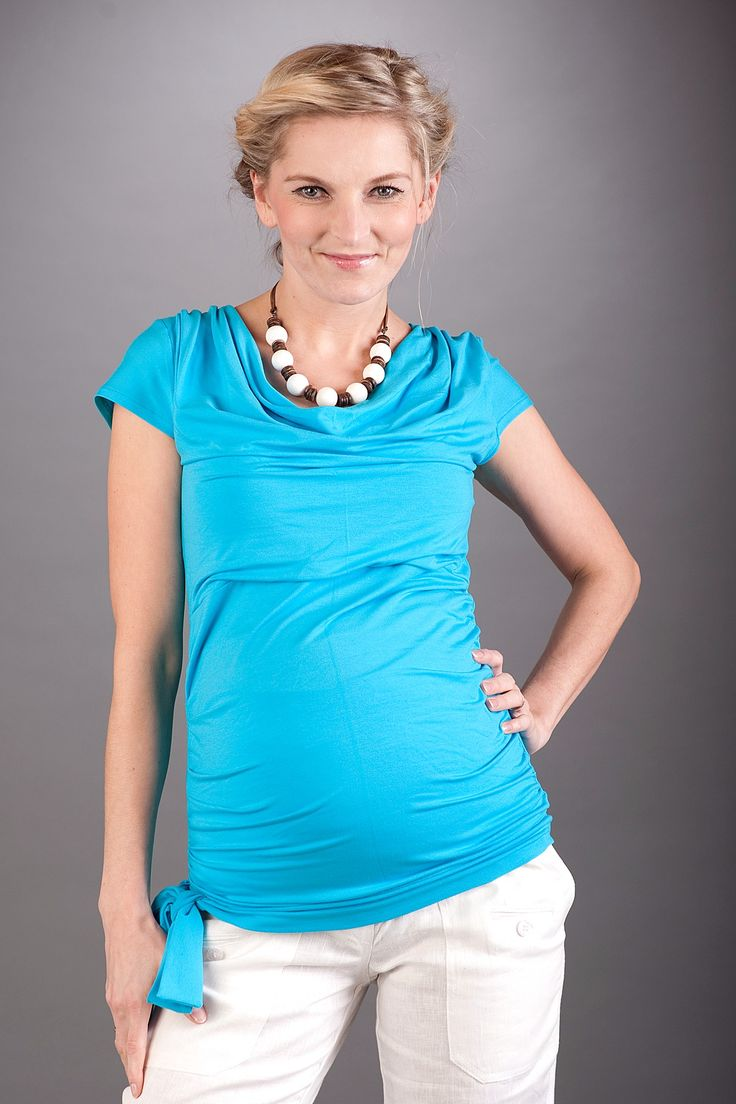 Těhotenská halenka PATRICIA, modrá