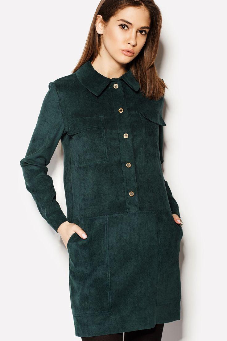 Купить платье MOS изумрудного цвета из вельвета | Производитель Украина | TM CARDO в брендовом бутике TM CARDO