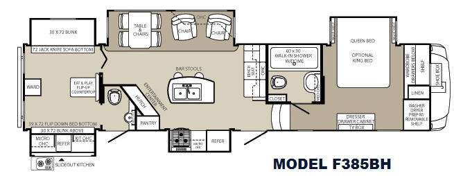 5th wheel bunkhouse floor plans floorplan travel - 5th wheel campers with 2 bedrooms ...