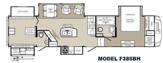 5th Wheel Bunkhouse Floor Plans Floorplan Rv Floor