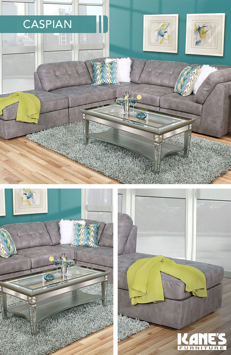 Uniquely Constructed The Caspian Has A Style All Its Own Armless Seats And Corner Chairs Are Com Living Room Collections Furniture Reviews Mattress Furniture
