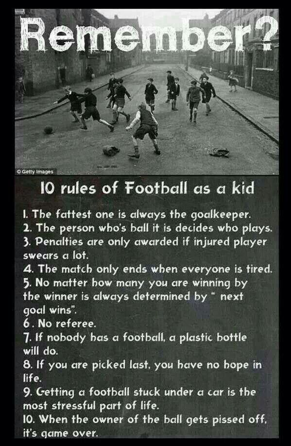 """So true and you would play til it was so dark you could only just see the ball  and offside was called """"goal hanging"""""""