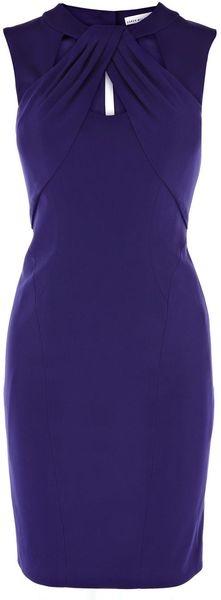 KAREN MILLEN ENGLAND Cutaway Neckline Jersey Dress