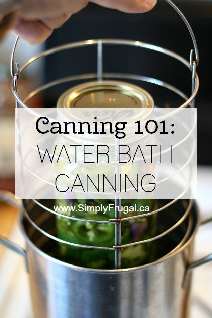 Water bath canning is used to preserve high acid foods, such as tomatoes, fruits, and pickles.