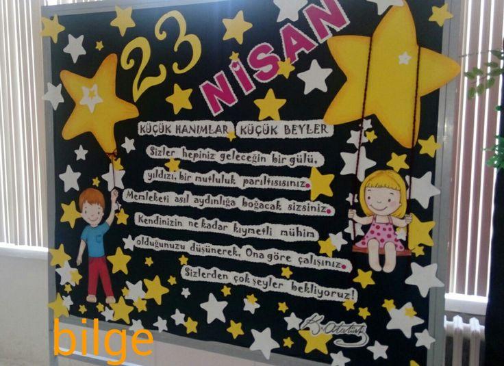 #bilge# 23 nisan panosu. Çankaya ilkokulu 2017.