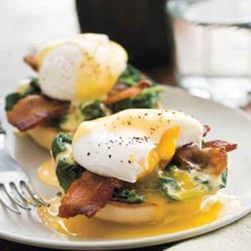 Lemony Eggs Florentine