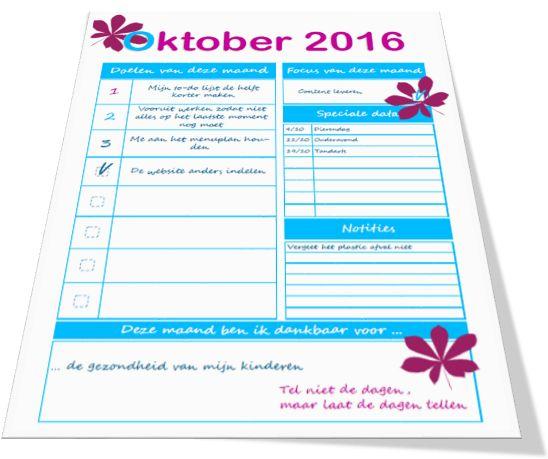 Laten we doelen stellen in oktober | Weggeef Woensdag