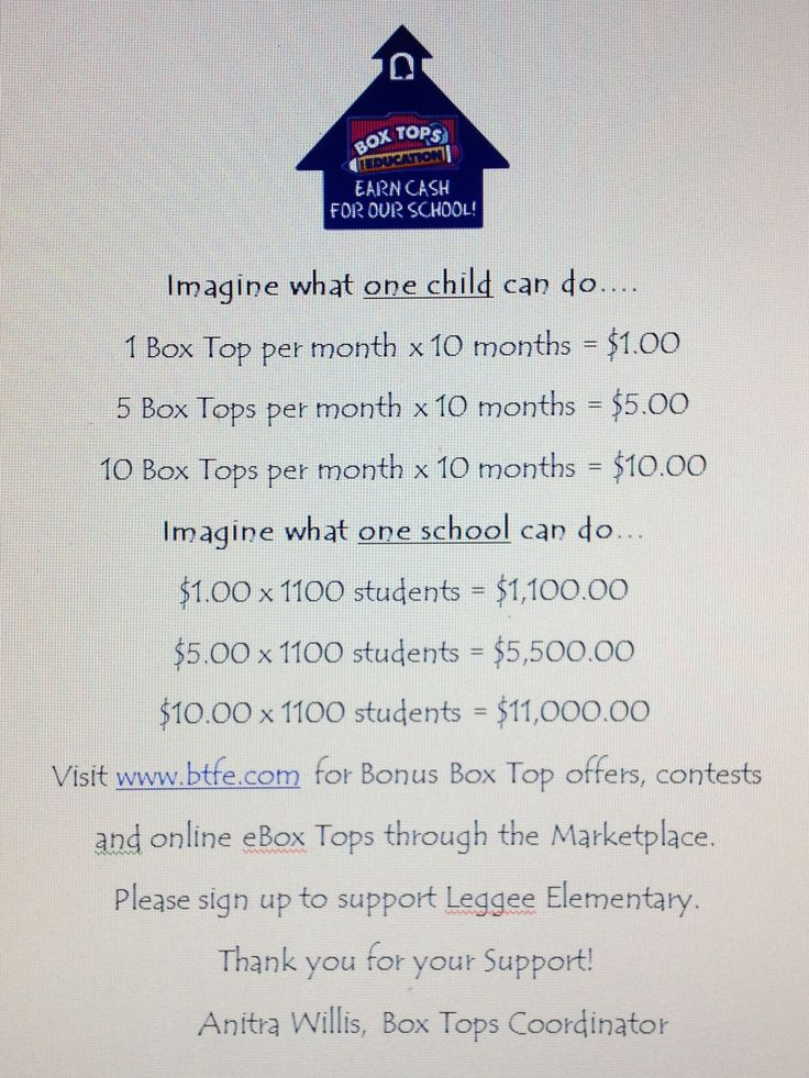Imagine what one child could do...  Imagine what one school could do...  Great reminder an eye opener ! Box tops for education