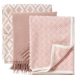 KLippan dekens organisch katoen roze