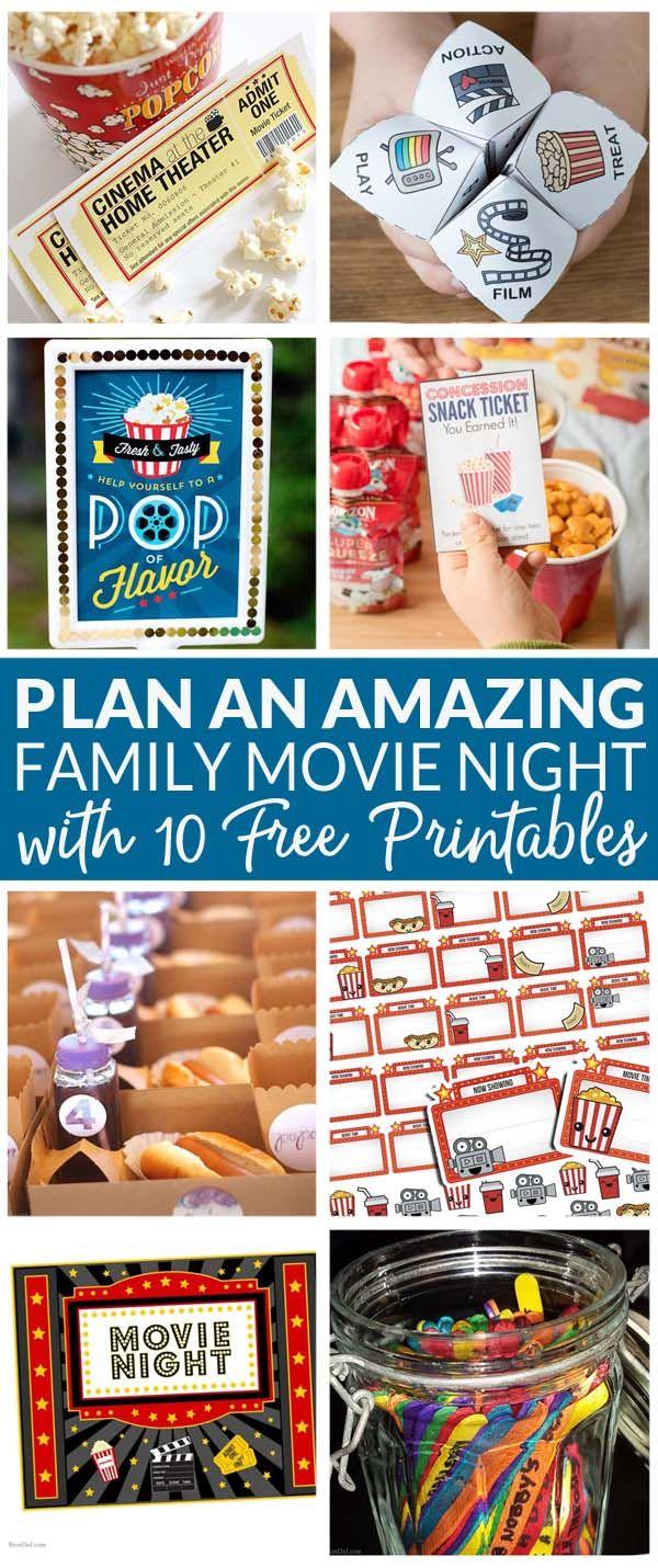 How to Plan a Family Movie Night, Moive Night , Free Printables, How to Make Family Movie Night Fun via @brendidblog