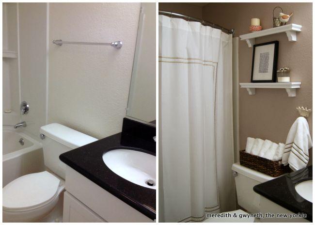 Bathroom Makeover Apartment 36 best apartment bathroom ideas images on pinterest | bathroom
