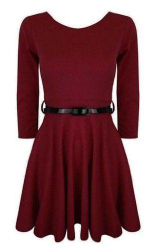 Funky Boutique Women's 3/4 Sleeve Skater Dress