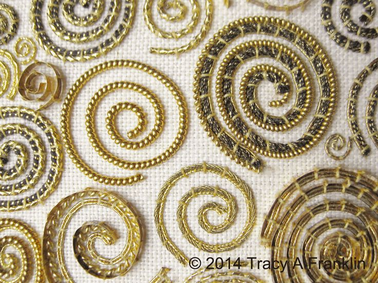 Tracy A Franklin - specialist embroiderer: . . . more gold work contempo . . .