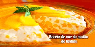 Receta de pay de mojito  de mango