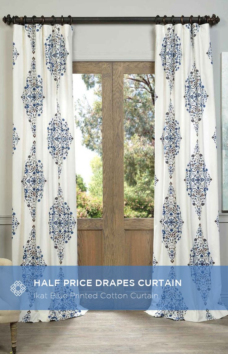Our Printed Cotton Curtains and Drapes provide a casual feel to any window. Choose from a wide range of patterns to suit any decorative style. These drapes and curtains are tailored from the finest 100% Cotton. Great attention is given to each step of the production process. They are finished with a weighted hem and shade-enhancing lining