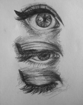 How to sketch the blinking process  @Isabelle Bliss  This reminds me of your drawing- the top eye and the half-face that i didnt want to be a pirate.