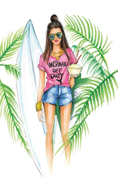 Шаблон, крутые летние рисунки