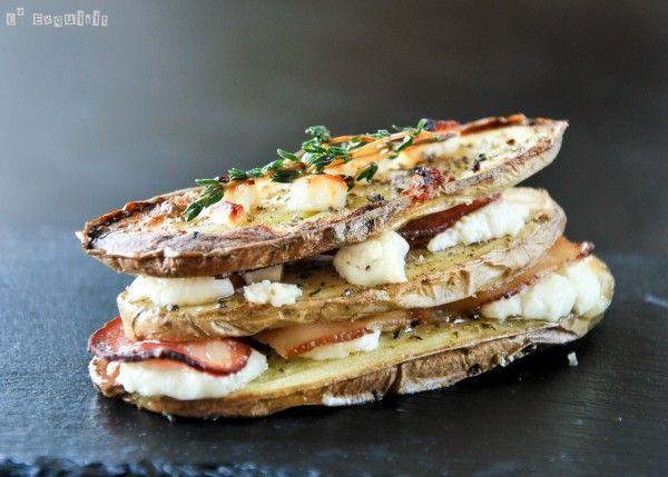 Bocadito de patata, bacon y queso - L'Exquisit