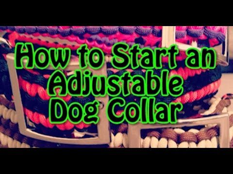 Rock Paracord - How to Start an Adjustable Dog Collar
