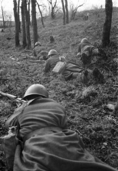 Ukraine - Slavianka. Italian soldiers in combat.01/06/1941 - 10/03/1942