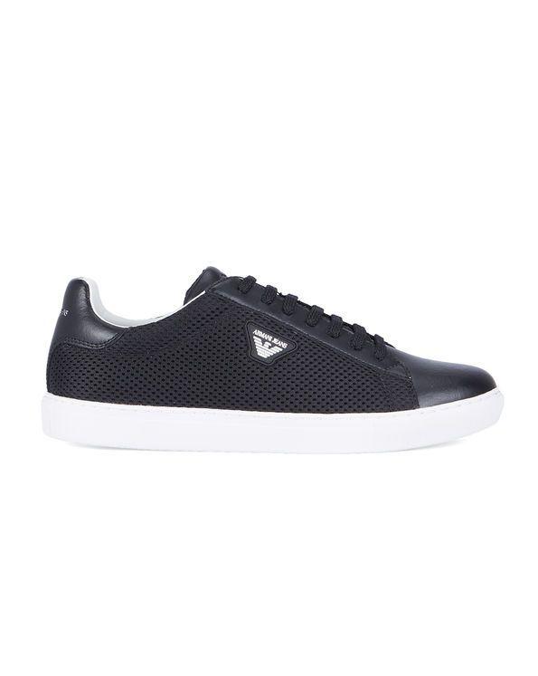 Sneakers mèche Bi matière Logo AJ Noires ARMANI JEANS