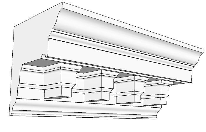 10 best gutter eaves images on pinterest gutter for Fiberglass crown molding