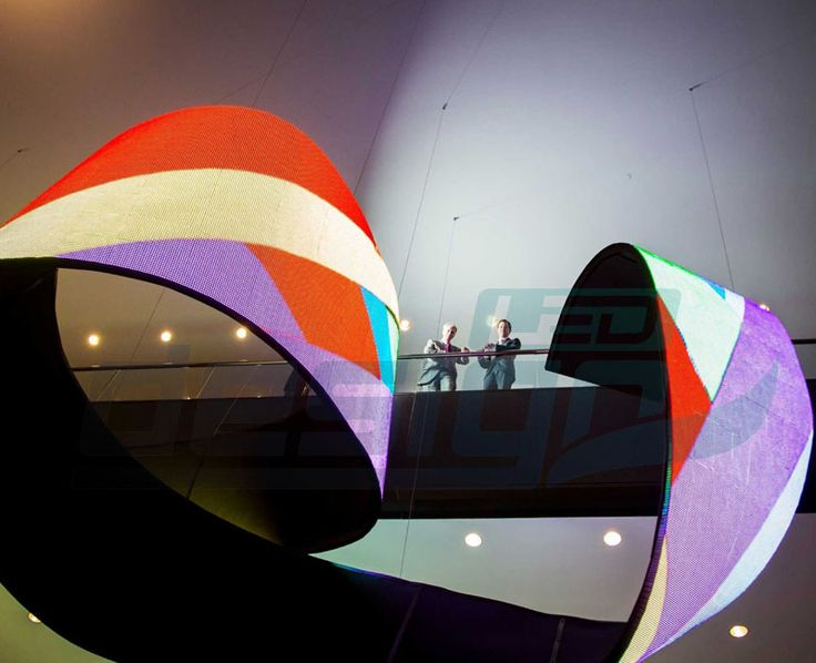 Waves LED Video Sculpture with P10mm Flexible LED Screen - Flexible LED Screen -DesignLED