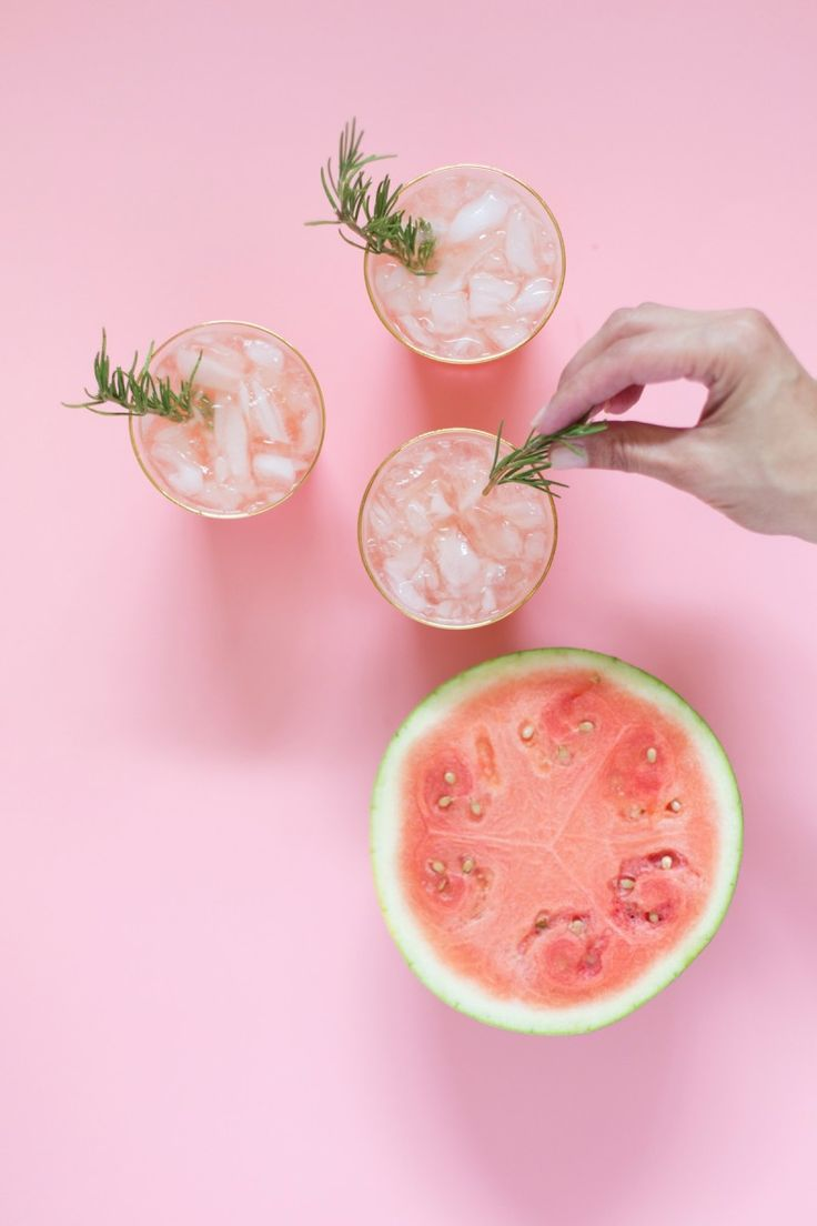 Spiked Watermelon Rosemary Punch for July 4th #Punch4Everybody #ad @smirnoffus