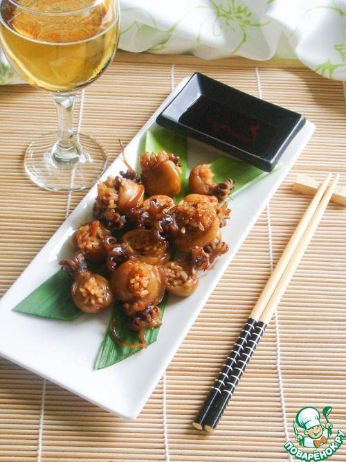 Фаршированные кальмары по-японски - кулинарный рецепт