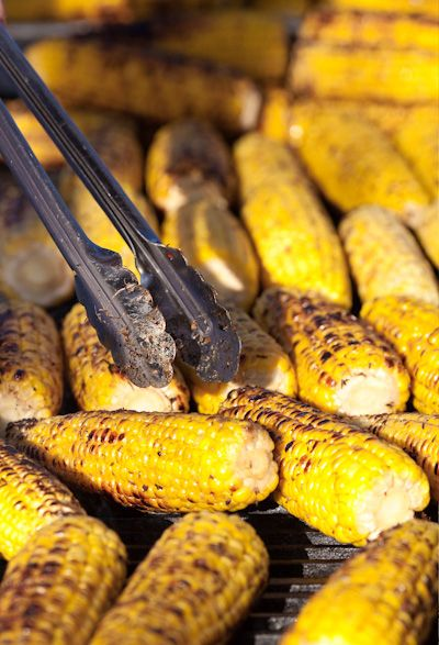 Rustic Country Wedding Food - Corn!