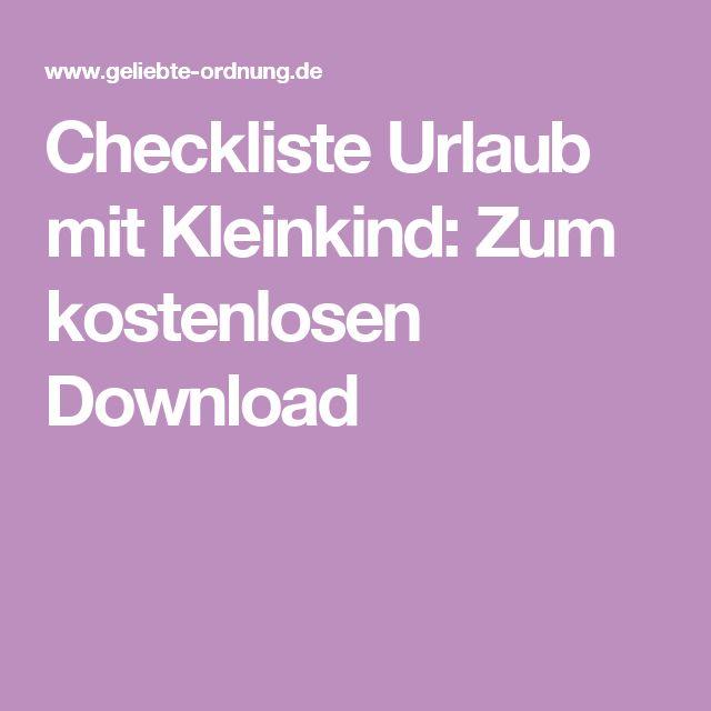 checkliste urlaub mit kleinkind zum kostenlosen download