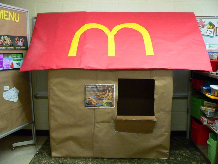 McDonalds!..Or a Tim Hortons- to keep it People need to eat and they cannot always go home.  Where do people stop to eat?  How is it different in other parts of the world?  What is always the same?