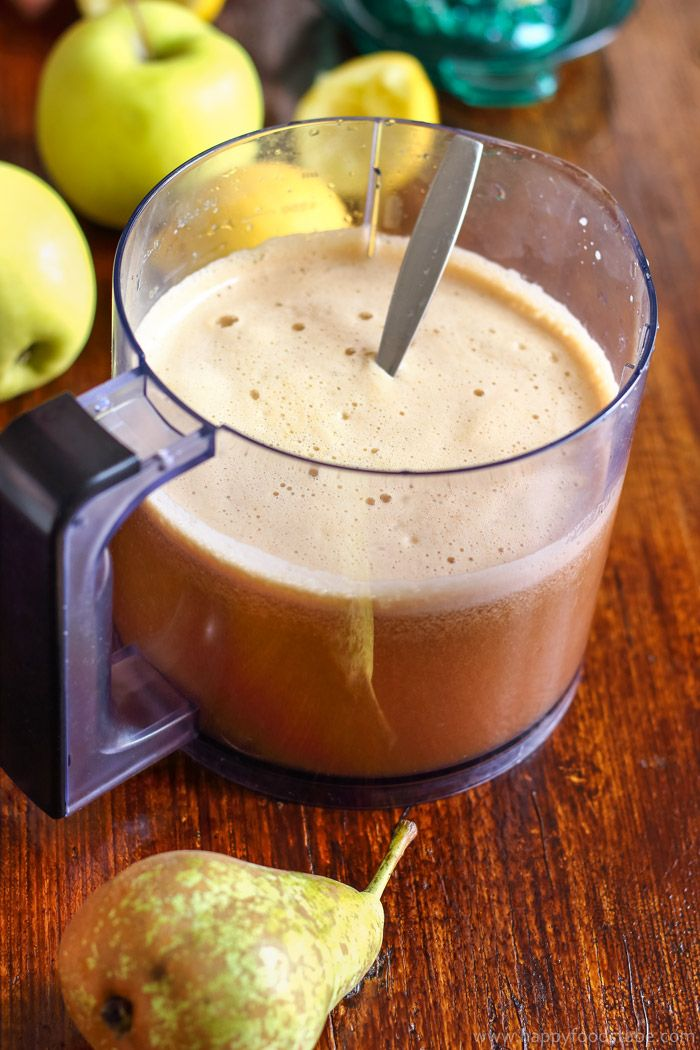 Homemade Cloudy Apple Pear Juice. Only 2-ingredients.