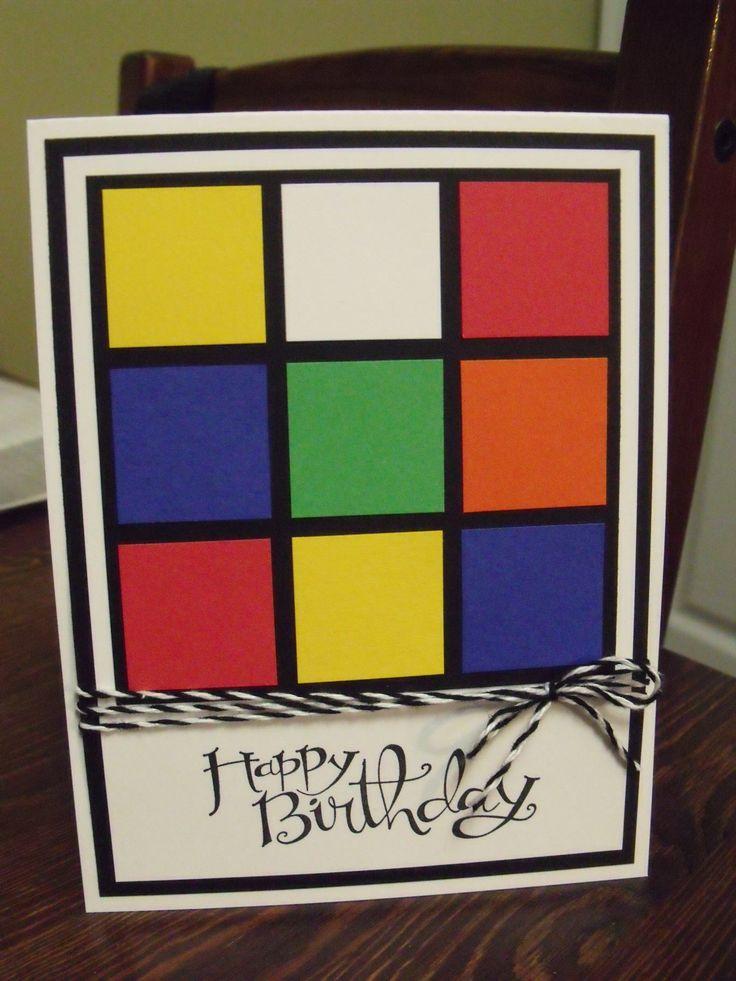rubik u0026 39 s cube birthday card