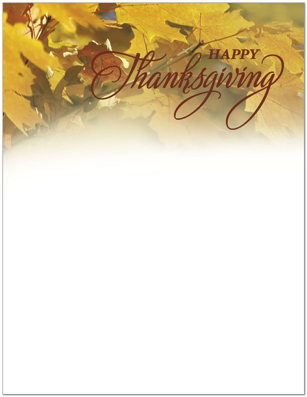 1000 images about thanksgiving stationery on pinterest thanksgiving note paper and writing for Thanksgiving letterhead