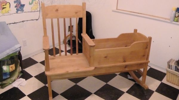 Handmade rocking chair/cradle  :)Baby baby oh baby(:  Pinterest