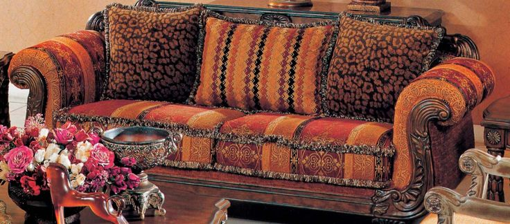 Fine Gold Sofa Set   Traditional Striped Sofa With Rolled Arms And Wood  Trim 8805 | Home Decor, Improvements U0026 Furnishing | Pinterest | Sofa Set,  ...