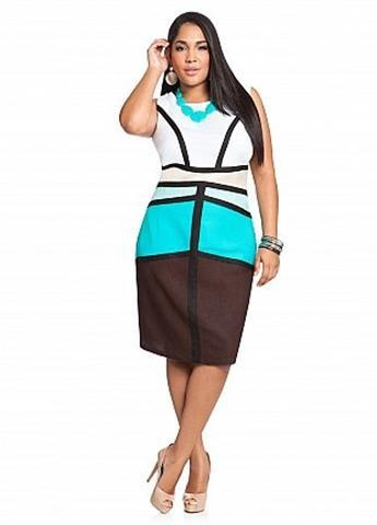 Fat chic find your own plus size color block look on fat for Creer dressing