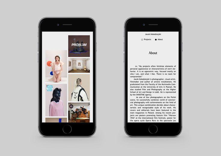 Photographer's portfolio on Behance