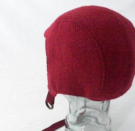 Mirtillo rosso lana aviatore cappello con Gold di rocksandsalt, $68.00