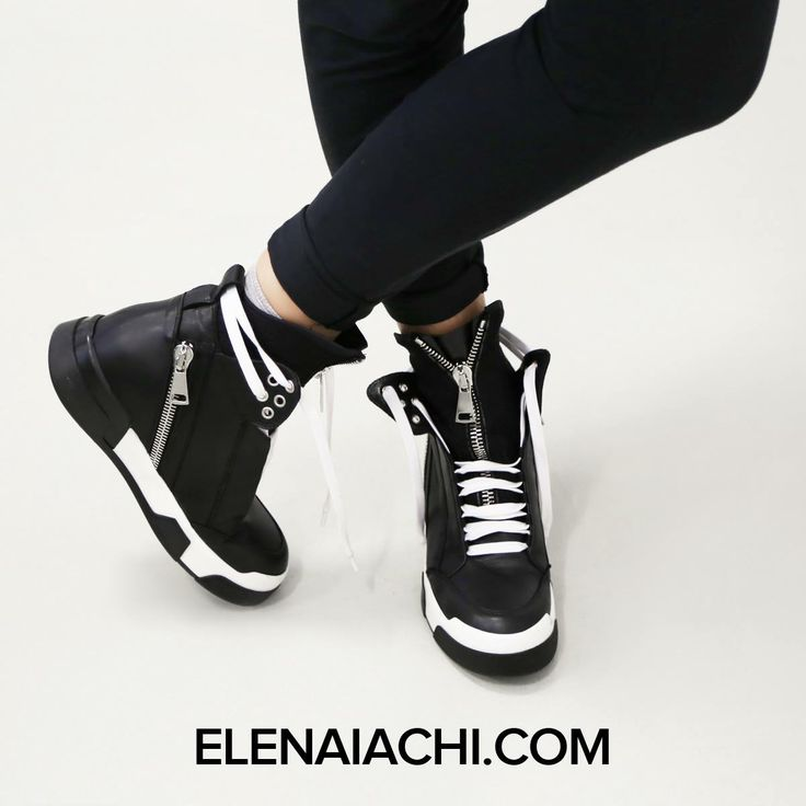 #sneakers #elenaiachi #artmustbedangerous #black #cool #zip #MUSTHAVE #madeinitaly #handmade #fashionshoes  http://elenaiachi.com/
