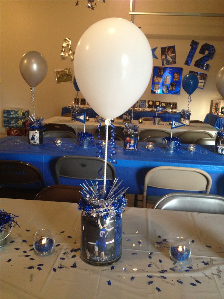 17 best ideas about graduation party centerpieces on for Balloon decoration graduation