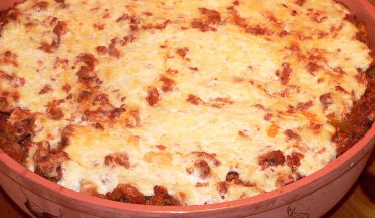 Grekisk pasta och köttfärsgratäng - FridaA - Recept