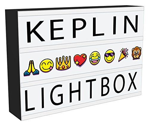 KEPLIN® A4 Enhanced Energy Efficient LED Cinematic Light Up Your Life Letter Box with 120 Characters/EMOJIS, Storage USB LEAD XMAS PARTY #KEPLIN® #Enhanced #Energy #Efficient #Cinematic #Light #Your #Life #Letter #with #Characters/EMOJIS, #Storage #LEAD #XMAS #PARTY