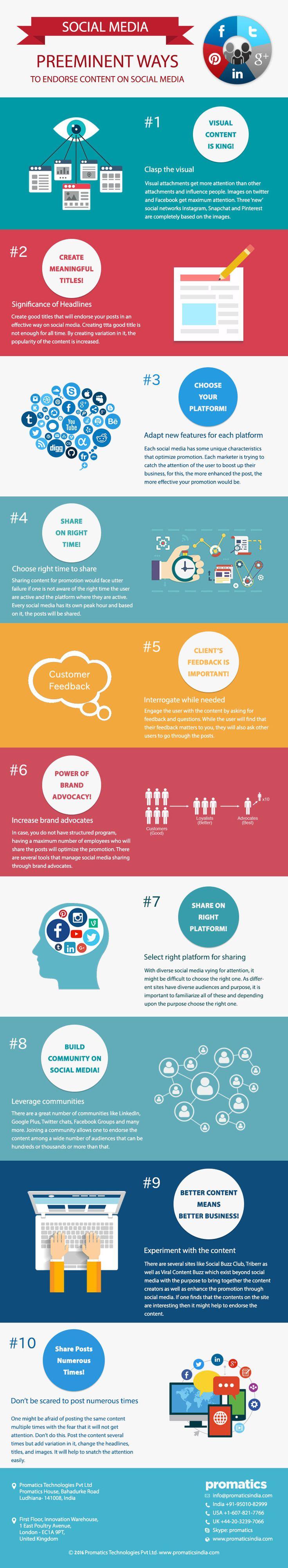 Preeminent ways to endorse #content on #social media http://www.promaticsindia.com/blog/preeminent-ways-to-endorse-content-on-social-media/ #smm #contentmarketing #socialmediamanagement