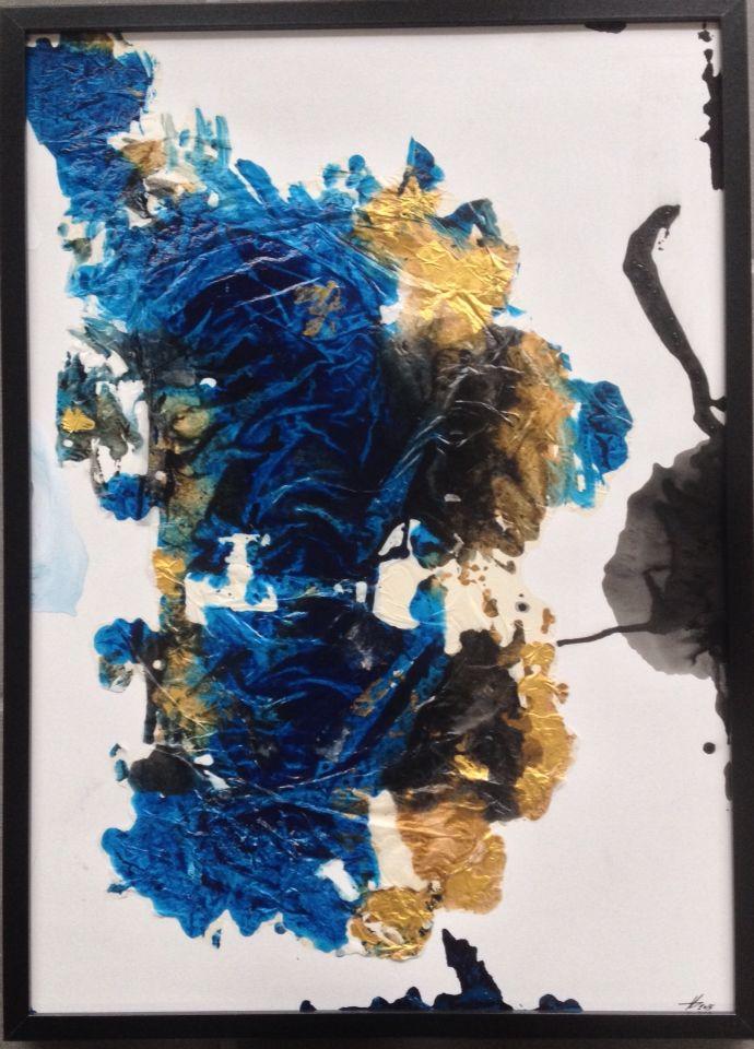 Painting by Aharkes. Acrylic and oil on paper. 50x60 cm. #aharkes #annemetteharkes #artwork #artoftheday #art #painting #gallery #maleri #maleriertilsalg